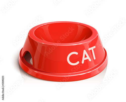 bowl for animal vector illustration isolated on white