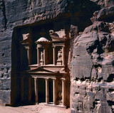 Treasury in ancient city of Petra in Jordan