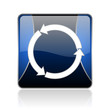 refresh blue square web glossy icon