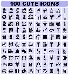 100 cute icons