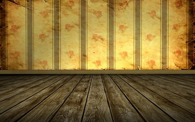 Tapetenraum - Alte Wand