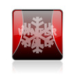 winter sale red square web glossy icon