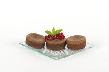 trois gâteaux au chocolat