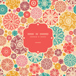 Vector abstract decorative circles frame seamless pattern