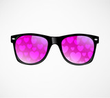 sunglasses and hearts vector Abstract background