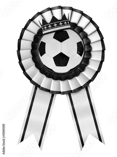 Ribbon Award with a football symbol