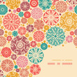 Vector abstract decorative circles corner pattern background