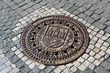 Manhole cover in Prague
