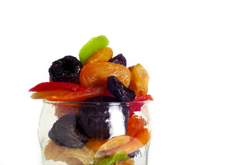 dried fruits in a glass