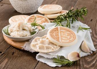 Tigelle con lardo - Tigelle with lard