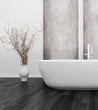 nterior of Luxurious White Design Bath Room