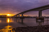 Sunset at Southampton's Itchen Bridge