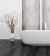 nterior of Luxurious White Design Bath Room