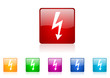 lightning vector glossy web icon set