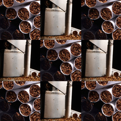 Cigarettes and Tobacco Tiled Design Pattern and Background