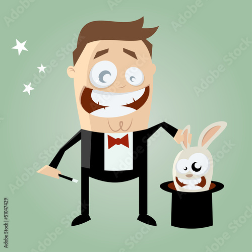 zauberer kaninchen