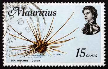 Postage stamp Mauritius 1969 Sea Urchin