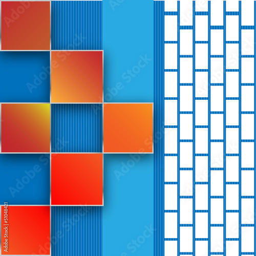 Seamless blocks vector background