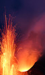 Vulkanausbruch Strombolianische Eruption