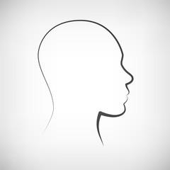 Kopf männlich Silhouette