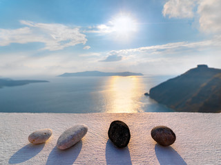 Greece santorini imerovigli amazing view to the sea