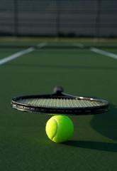 Tennis Racket on a Ball