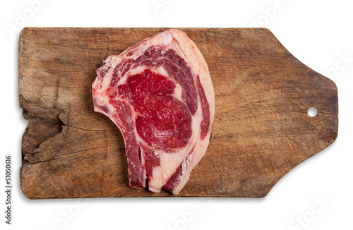 Beef on table, isolated.