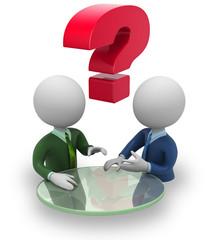 Businessmen negotiation