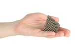 Pyramid of metal balls for neocube (toy)