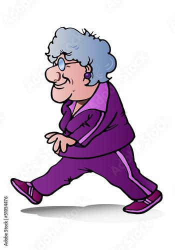 grandma jogging