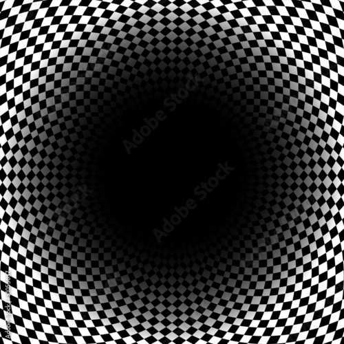 Abstract checkered background with space for text in center. Vec