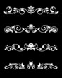 Retro borders and dividers in floral style