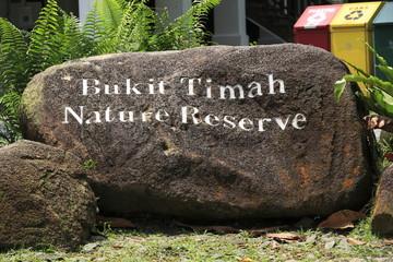 Bukit Timah Nature Reserve Sign