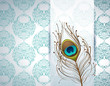 peacock feather and ornamental wallpaper