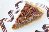 Pecan Pie Slice Closeup