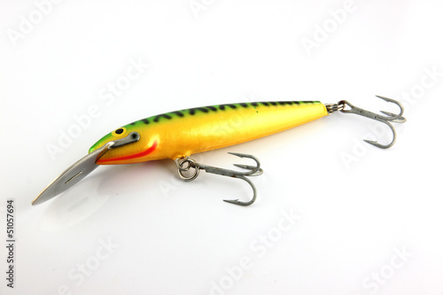 The Lure is fishing on white Background.