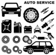 Car repair service icon