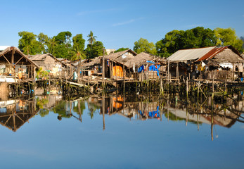 Village on Water in Philippines