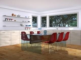 Beautiful Interior of a Modern Kitchen