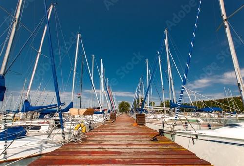 Fototapeta Sailing boats in the harbor