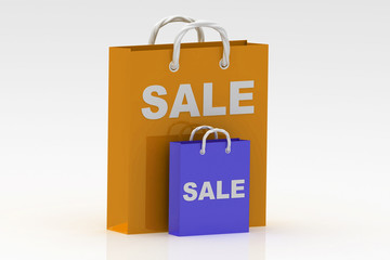 bag with the word sale