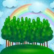 Countryside, fantasy landscape
