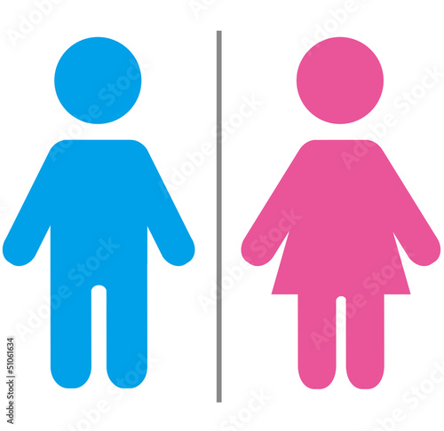 Cute male and female sign Vector