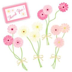 ガーベラの小さな花束 いろいろピンク