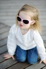 Adorable little girl in sunglasses