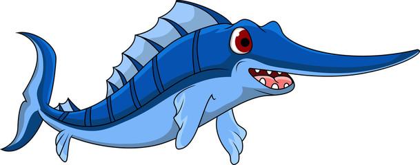 cute Cartoon swordfish