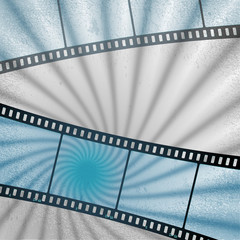 vector: movies film blue light background