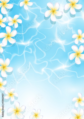 Tropical background for design