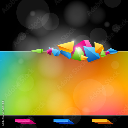 Abstract design in bright colors