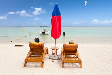 plage relaxante paradisiaque de l'île Maurice